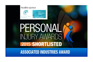 Personal Injury Awards Finalist - Branding Associated Industries Awards